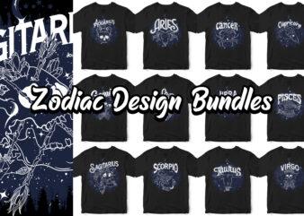 Zodiac Design bundles, Dark line space skull