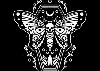 coffin butterfly tshirt ready to use