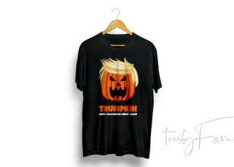 Trumpkin | Make Halloween Great Again | T shirt design for sale