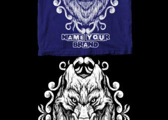 wolf dark art