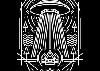 alien abduction tshirt design for sale