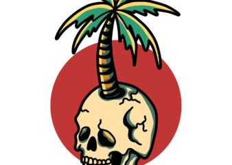 skull palm
