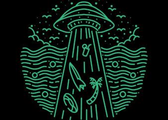 summer abduction tshirt design