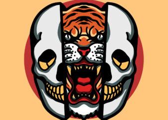tiger in skull