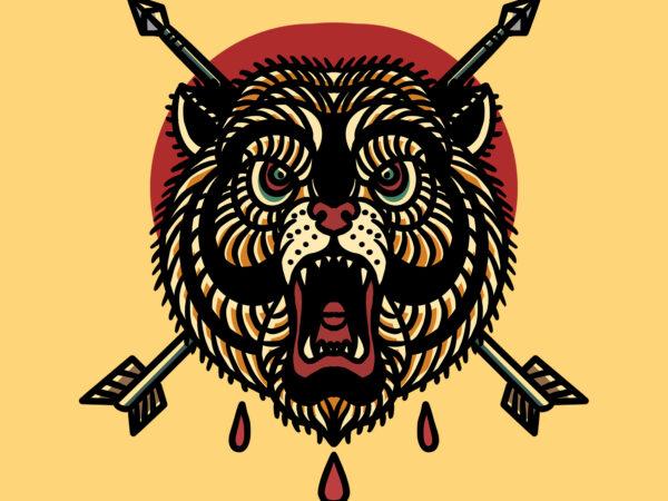 bear and arrow t shirt template