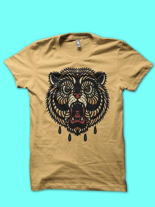 bear tshirt design ready to use