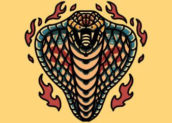 cobra flame t shirt vector file