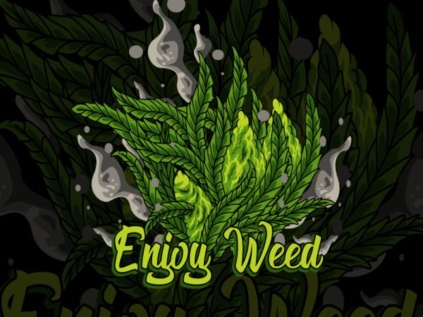 marijuana tree t shirt designs for sale