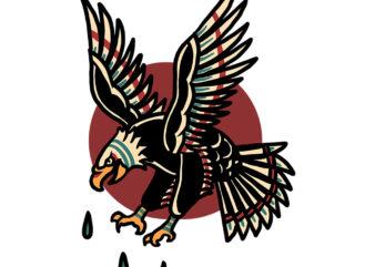 flying eagle tshirt design