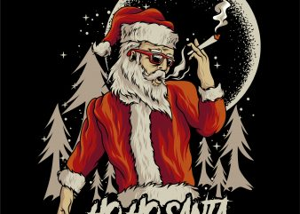 santa claus smoke
