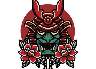 samurai tshirt design ready to use