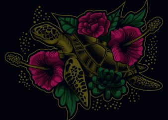 Turtle artwork illustration