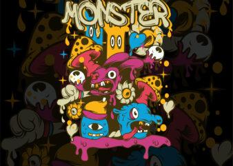doodle art monster
