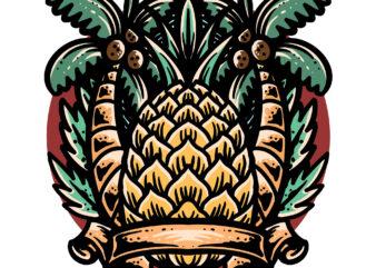 pineapple summer t-shirt design