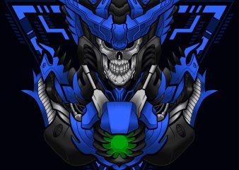 skull cyber knight