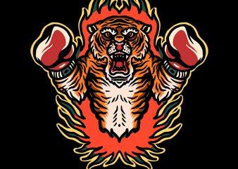 boxing tiger