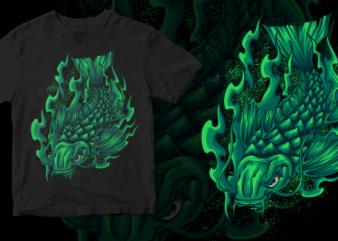 koi fish dark art