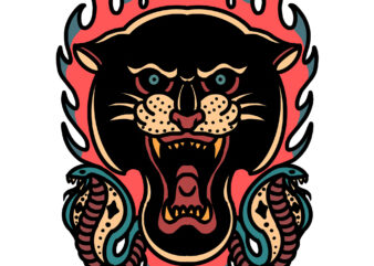 panther and snakes