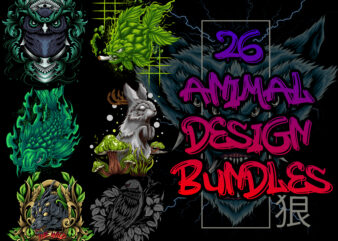 26 animal design bundles