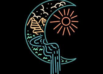 moon line art monoline