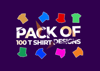 Pack of 100 Vector t shirt designs