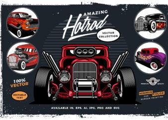 fabulous Hotrod t-shirt design bundle collection
