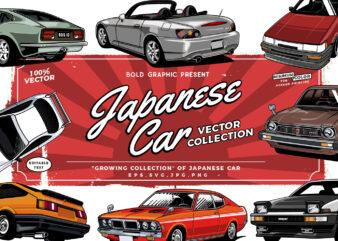 Amazing Japanese Cars T-shirt design Bundle Collection