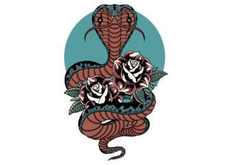 cobra and flower