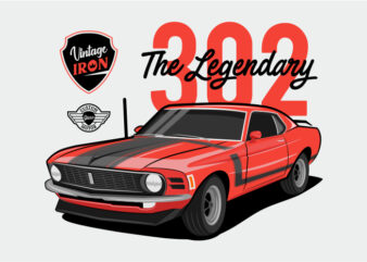 Muscle Car – The Legendary – Red Muscle Car 302