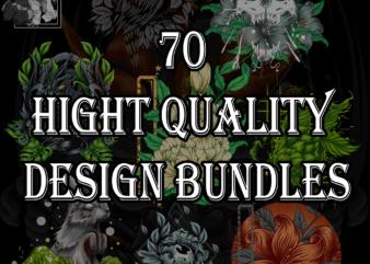 70 design bundles of various themes