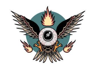 flying eye 2 t-shirt design