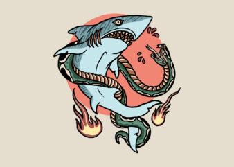 shark vs snake