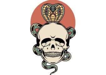 skull and cobra