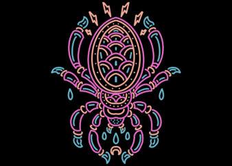 spider line art