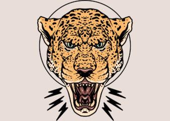 anger of leopard