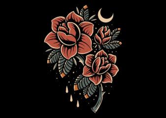 bloom tattoo t-shirt design