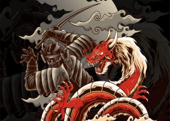 samurai ronin dragon