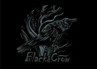 nightmare black crow