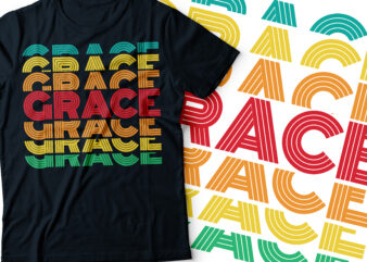 grace repeated typography retro style design