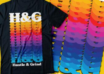 Hustle & grind text or typography design | hustle 24/7/365 days | H&G text or typography design