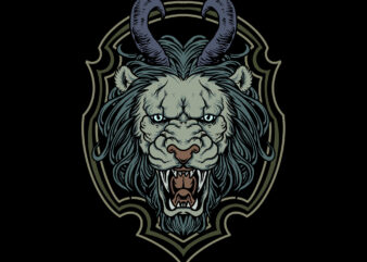 lion illustration t-shirt design