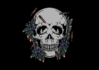 skull and bullets