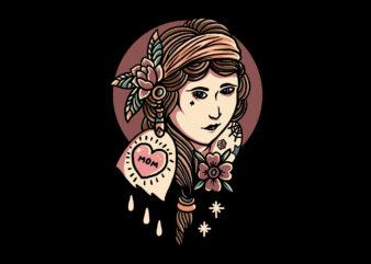 tattooed girl oldschool