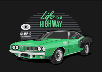 Classic Car Green – Life Is A HighWay