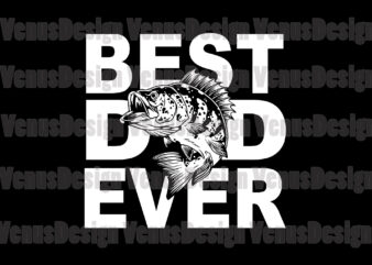 Best Fishing Dad Ever Editable Design