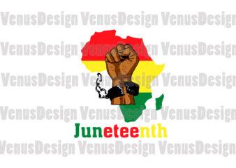 Juneteenth Break The Chains Editable Design