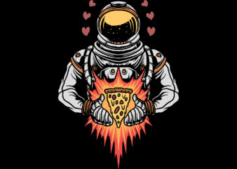 astronaut and pizza