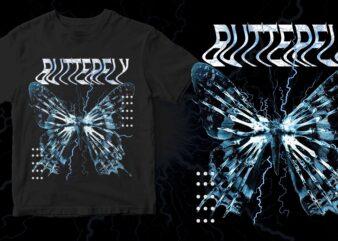 butterfly streetwear design