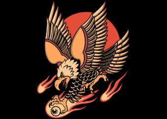eagle and flame