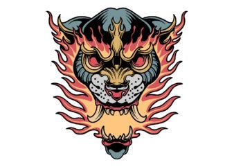 flaming beast